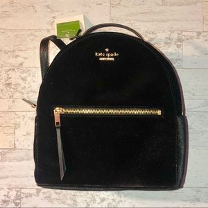 NWT Kate Spade Sammi Velvet Mini Backpack